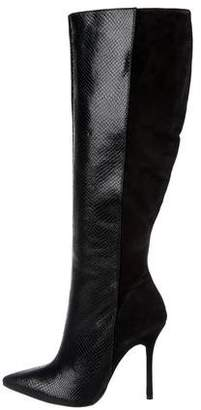 Alice + Olivia Suede Knee-High Boots w/ Tags