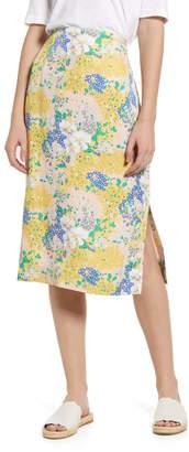 J.Crew Lemon Floral Midi Slip Skirt