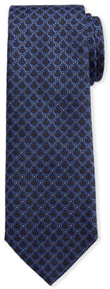Salvatore Ferragamo Men's Imperij Silk Tie, Blue