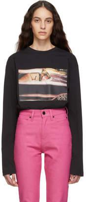 Calvin Klein Jeans Est. 1978 Black Environmental Communications Graphic Long Sleeve T-Shirt