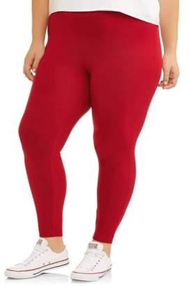Terra & Sky Women'As Plus Size Super Soft Full Length Legging