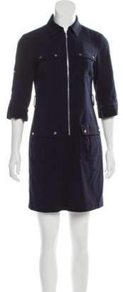 Michael Kors Zip-Accented Mini Dress Navy Zip-Accented Mini Dress