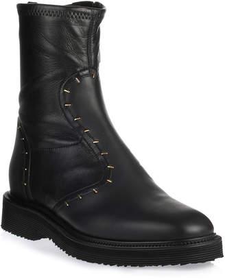 Giuseppe Zanotti Black nappa leather biker boot