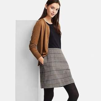 Uniqlo Women's Wool-blend High-waisted Mini Skirt