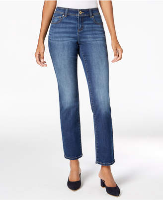 INC International Concepts I.N.C. Curvy Mid-Rise Straight-Leg Jeans, Created for Macy's