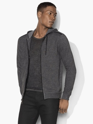 Marled Knit Zipped Hoodie $198 thestylecure.com