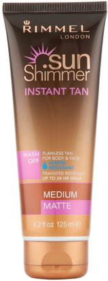 Rimmel Sunshimmer Water Resistant Wash Off Instant Tan - Matte (125ml) - Medium Matte