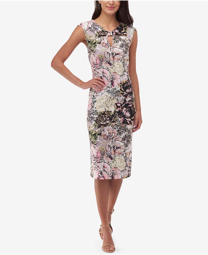 ECI Long Textured Sheath Dress