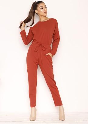 b7375dfc89 Missy Empire Missyempire Julie Rust Jumper Loungewear Set