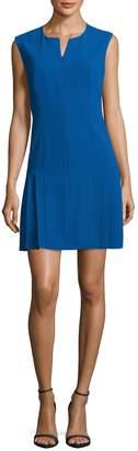 Anne Klein Women's Zipper Front Pleated Dress