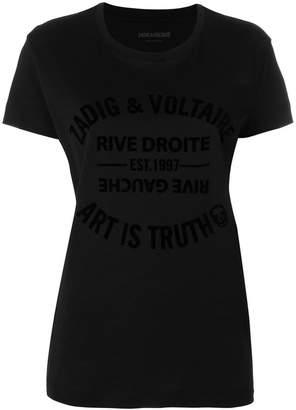 Zadig & Voltaire Walk Flock Blason T-shirt