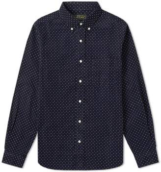 Beams Button Down Dot Cord Shirt