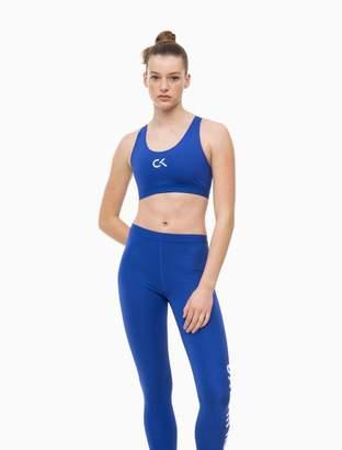 Calvin Klein logo high impact racerback sports bra