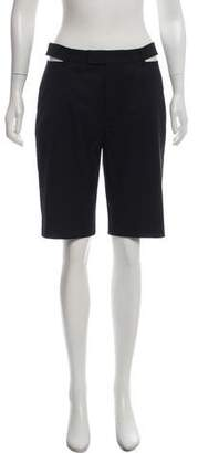 Helmut Lang Wool Cut-Out Shorts w/ Tags