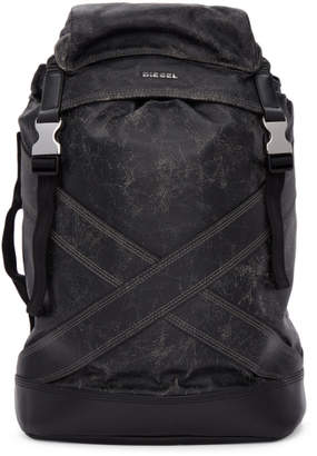 Diesel Black L-Blaid Ranner Backpack
