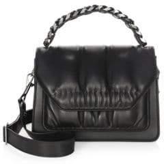 Elena Ghisellini Eclipse Media Leather Shoulder Bag