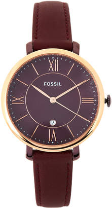 Fossil ES4099 Rose Gold-Tone & Wine Watch