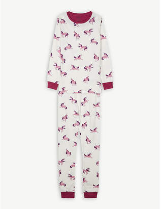 Hatley Unicorn print cotton pyjamas 4-12 years