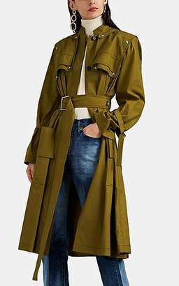 Proenza Schouler Women's Cotton Belted Trench Coat - Green