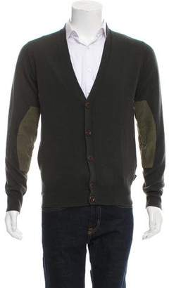 Paul Smith Wool Rib Knit Cardigan