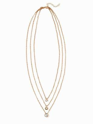 Old Navy Layered Crystal-Pendant Necklace for Women
