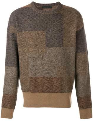 Falke crew neck panelled sweater