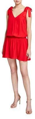 Amanda Uprichard Josephina Smocked V-Neck Sleeveless Dress