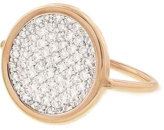 ginette_ny Diamond Disc Ring - Rose Gold