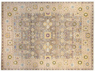 F.J. Kashanian 9'x12' Sari Jennifer Hand-Knotted Rug - Gray