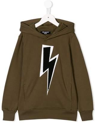 Lightning Bolt Neil Barrett Kids printed hoodie
