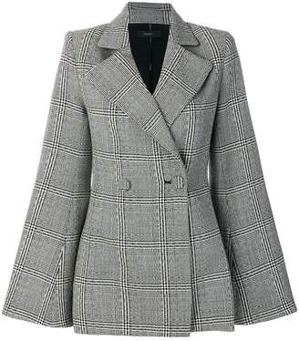 Ellery Boycott check flared sleeve jacket