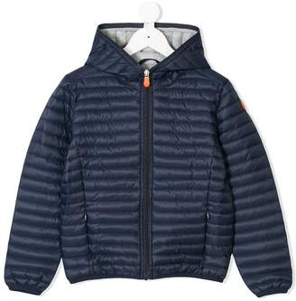 Save The Duck Kids quilted hooded jacket