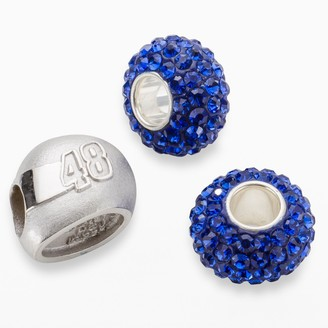 """Insignia Collection NASCAR Jimmie Johnson Sterling Silver """"48"""" Helmet Bead Set"""