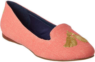 Jack Rogers Embroidered Tassel Loafer