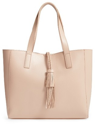 Sole Society Zyla Faux Leather Tote - Grey $64.95 thestylecure.com