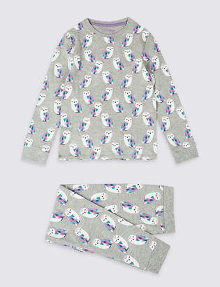 Marks and Spencer Cotton Rich Printed Pyjamas (3-16 Years)