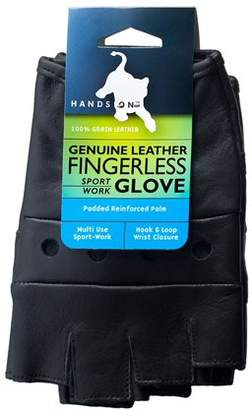 HANDS ON FL2250-L, Genuine Grain Leather Half Finger Glove