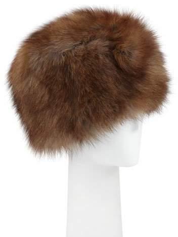Adrienne Landau Fox Fur Cap