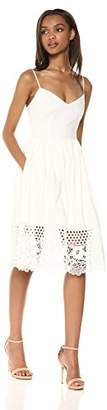 French Connection Women's Strappy Jersey Lace Dress