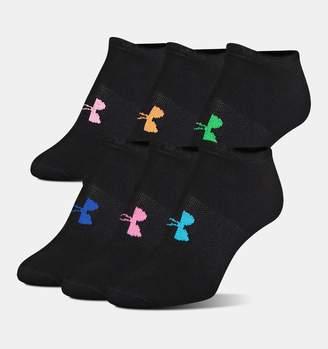 Under Armour Womens UA Big Logo No-Show Socks 6-Pack