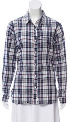 Stateside Plaid Button-Up Top