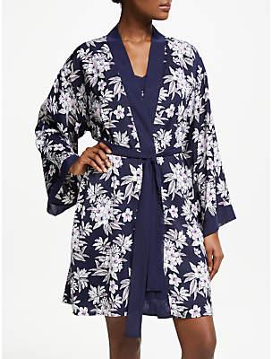 1f14d2de5cc John Lewis   Partners Odette Floral Satin Dressing Gown