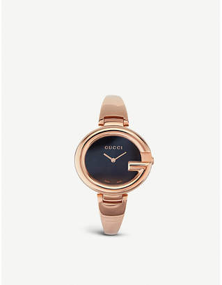 Gucci YA134305 Guccissima pink gold-plated stainless steel watch