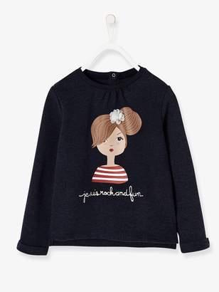 Vertbaudet Printed Tulle Sweatshirt for Girls