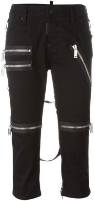DSQUARED2 cropped zip detail trousers