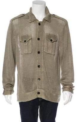 Armani Collezioni Linen Knit Jacket