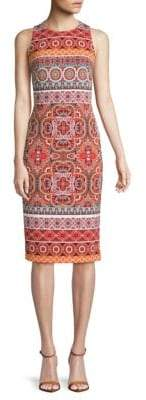 Maggy London Printed Knee-Length Dress