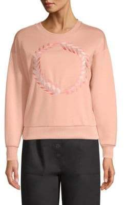 Maje Laurel Embroidery Sweatshirt