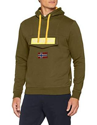 Napapijri Men's Burgee Sweatshirt (Green Musk Gd3)