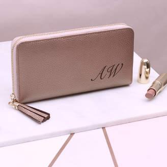 Hurleyburley Personalised Luxury Italian Leather Zipped Wallet Purse